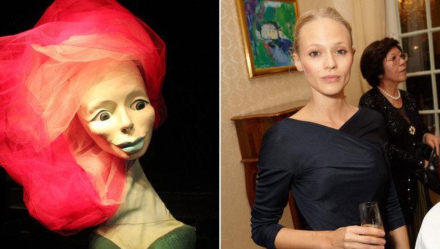 """Mavie Hörbiger spricht die """"Rose"""" im Marionettenstück """"Der Kleine Prinz"""" in Salzburg. (Bild: Salzburger Marionettentheater, Starpix/Alexander Tuma)"""