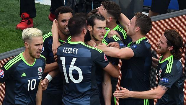 Torjubel nach dem 1:0 durch Gareth Bale (Bild: AFP)
