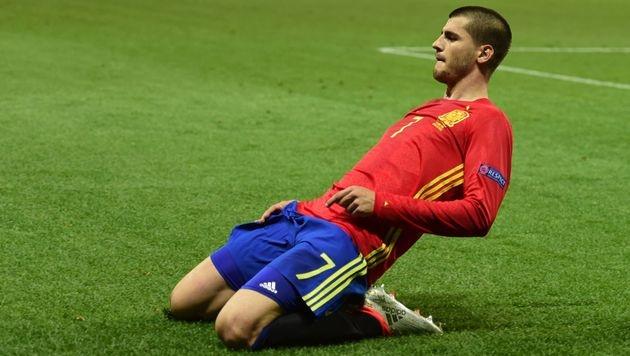 Spanien spaziert im Schongang zu 3:0 über Türkei! (Bild: AFP)