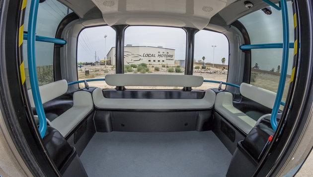 """Olli"": Selbstfahrender Minibus aus dem 3D-Drucker (Bild: Local Motors)"