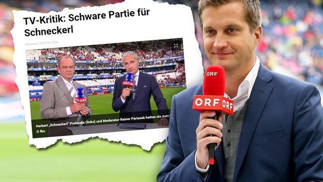 Deutsche spotten über ORF-Kommentator Polzer (Bild: tz.de, GEPA)
