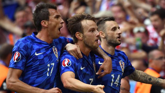 """Kroaten schenken """"klinisch toten"""" Tschechen Remis! (Bild: AFP)"""