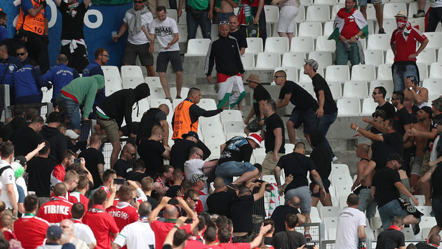 Nächster Fan-Skandal: Schlägerei im Ungarn-Sektor! (Bild: GEPA)