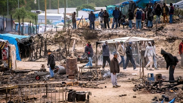 Flüchtlingslager in Calais (Bild: AFP)