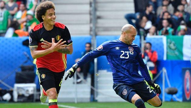 EM-Geheimfavorit Belgien demontiert Irland mit 3:0 (Bild: APA/AFP/GEORGES GOBET)