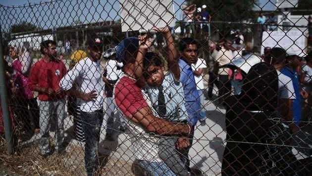 Flüchtlingslager auf der griechischen Insel Lesbos (Bild: AFP)