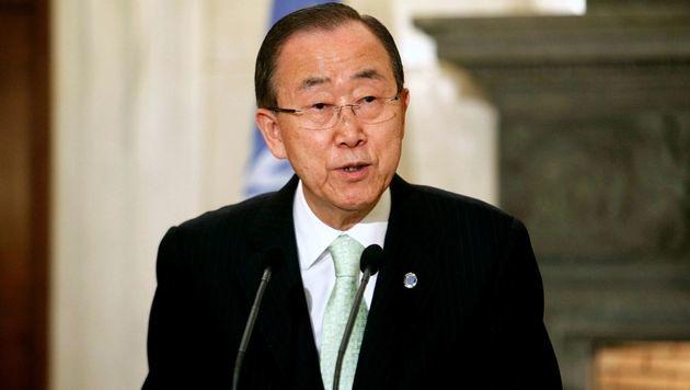 UNO-Generalsekretär Ban Ki Moon (Bild: AFP)