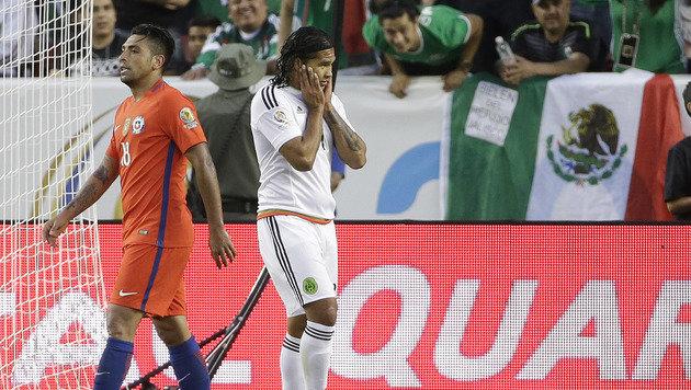0:7! Mexiko von Titelverteidiger Chile gedemütigt (Bild: AP)