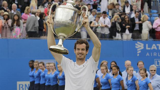 """Murray gewinnt zum fünften Mal Titel in Queen""""s (Bild: ASSOCIATED PRESS)"""