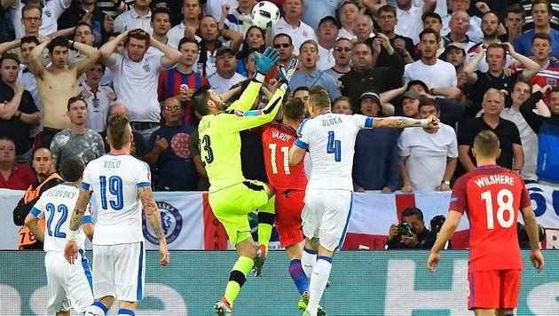 England nach 0:0 gegen Slowakei nur Gruppenzweiter (Bild: AFP)
