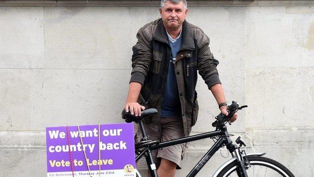 Brexit-Befürworter (Bild: EPA)