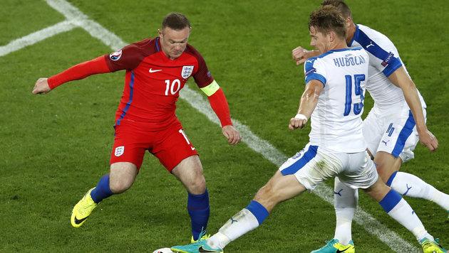 England nach 0:0 gegen Slowakei nur Gruppenzweiter (Bild: AP)