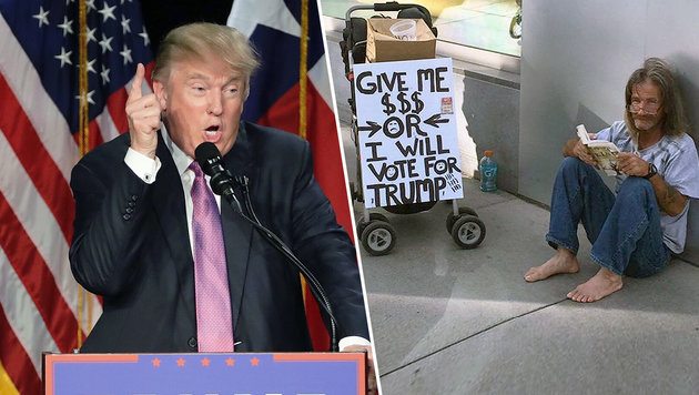 """""""Geld her, oder ich wähle Donald Trump!"""" (Bild: AP, instagram.com/rah966)"""