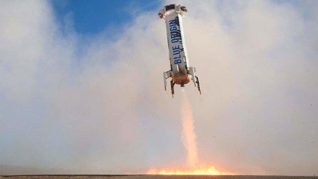 """""""Recycling-Rakete"""" landet zum vierten Mal sicher (Bild: AFP/Blue Origin)"""