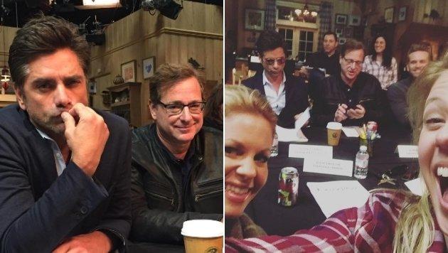 """Hier wird fleißig für die zweite Staffel """"Fuller House"""" geprobt. (Bild: instagram.com/candacecbure / instagram.com/jodiesweetin)"""