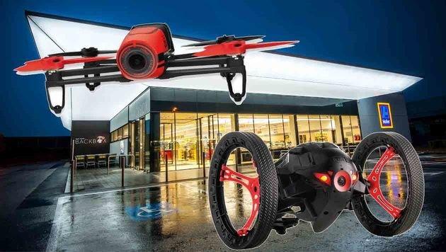 Bebop & Sumo: Hofer verkauft jetzt auch Drohnen (Bild: Hofer, Parrot)