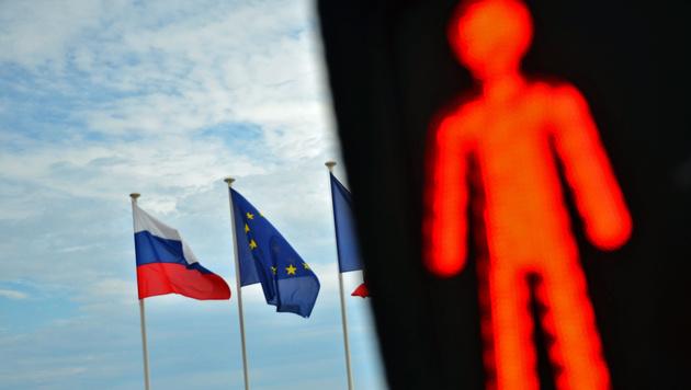 EU hält sich neue Sanktionen gegen Russland offen (Bild: Vladimir Sergeev/AFP/picturedesk.com)