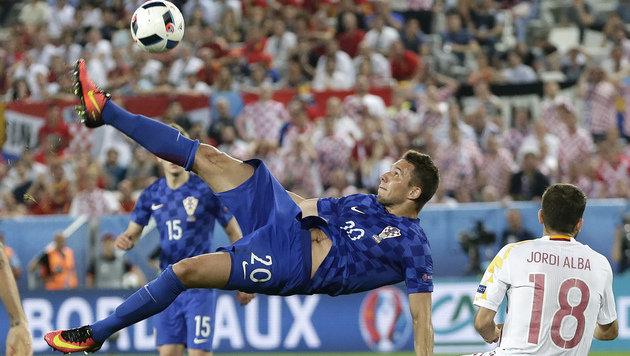 Gruppensieg! Kroatien sticht Spanien aus (Bild: AP)