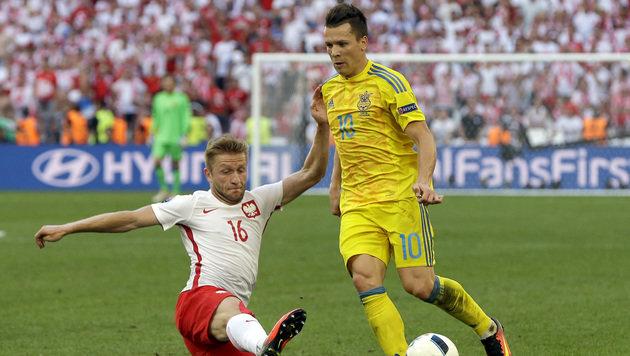 Polen nach 1:0-Sieg gegen Ukraine im Achtelfinale (Bild: AP)