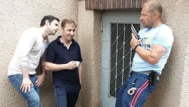 """Intendant Michael Rosenberg (rechts) spielt in """"Braunschlag"""" mit. (Bild: Rafa Noha)"""