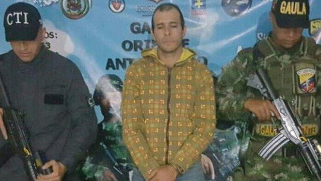 Jaime Iván Martínez Betancurt nach seiner Verhaftung (Bild: Fiscalía de Colombia)