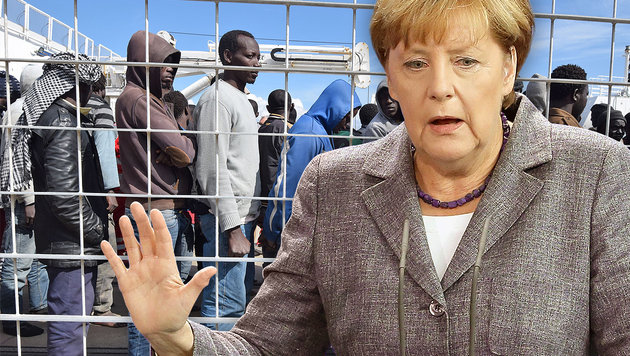 "Merkel: ""Zentrales Problem ist Flucht aus Afrika"" (Bild: APA/AFP/GIOVANNI ISOLINO, EPA/WOLFGANG KUMM)"