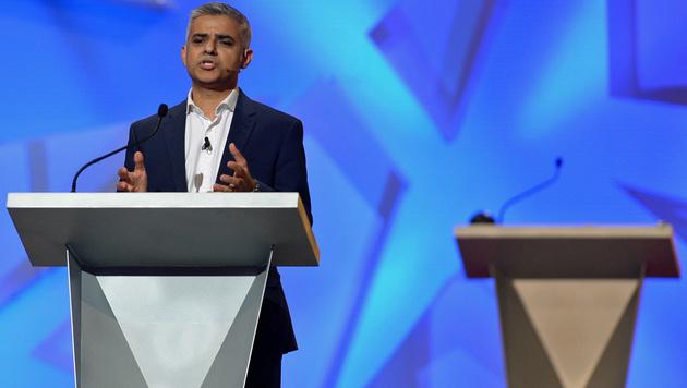 Londons Bürgermeister Sadiq Khan (Bild: APA/AFP/Pool/Stefan Rousseau)
