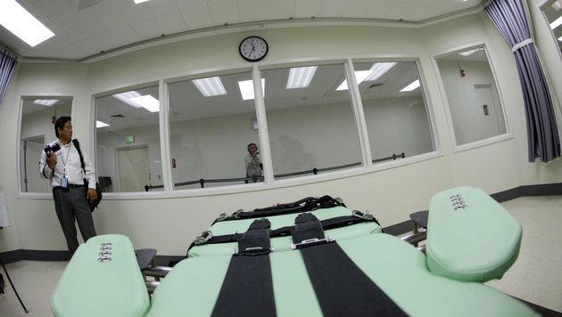 Hinrichtungskammer im Gef�ngnis von San Quentin in Kalifornien (Bild: ASSOCIATED PRESS)