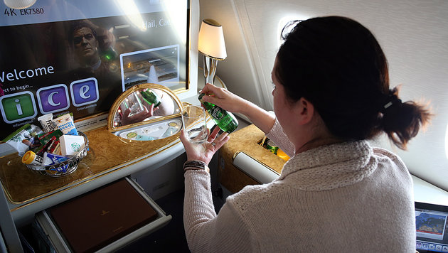 A380 - so luxuriös fliegt man jetzt auch ab Wien (Bild: zwefo)