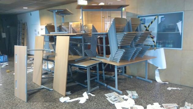 Maturanten verwüsteten Schule: Polizei ermittelt (Bild: HTL Ferlach)