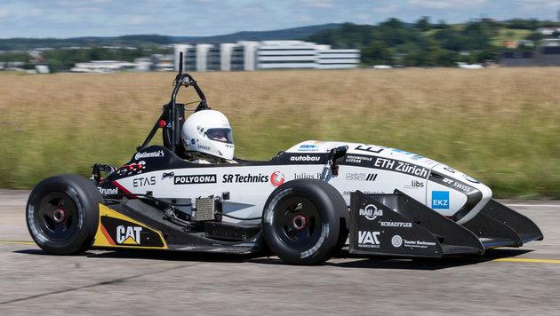 E-Auto beschleunigt in 1,5 Sekunden auf 100 km/h (Bild: ETH Zürich / Alessandro Della Bella)
