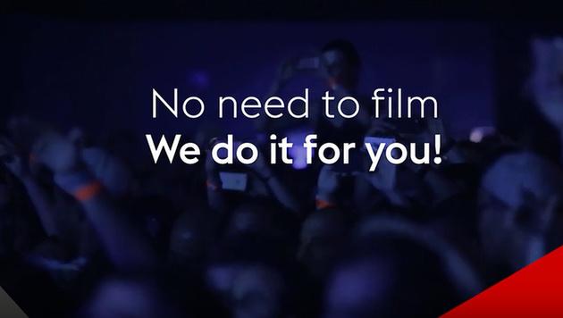 """App """"Cuts"""" übernimmt das Filmen bei Konzerten (Bild: YouTube)"""