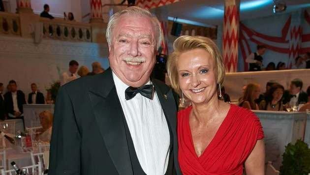 Michael Häupl mit seiner Ehefrau Barbara Hörnlein (Bild: Starpix/Alexander TUMA)