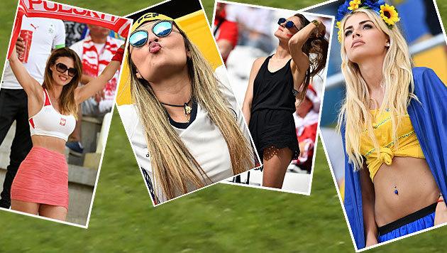 Heiße EM! Die schönsten weiblichen Fans (Bild: AFP, AP)