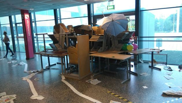Kärntner Schule verwüstet: 25 Maturanten beteiligt (Bild: HTL Ferlach)