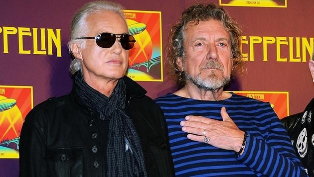 Led Zeppelin-Gitarrist Jimmy Page und Sänger Robert Plant (Bild: AP)