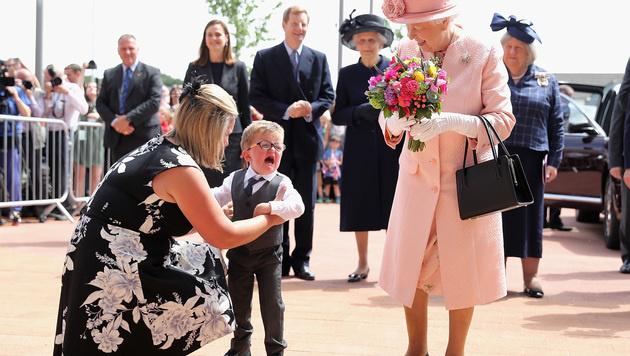 Riesige Krokodilstränen flossen beim Treffen mit der Queen. (Bild: Viennareport)