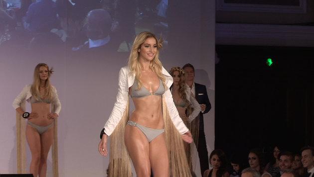 """Missen bei der """"Miss Austria""""-Wahl 2016 im Bikini (Bild: krone.tv)"""