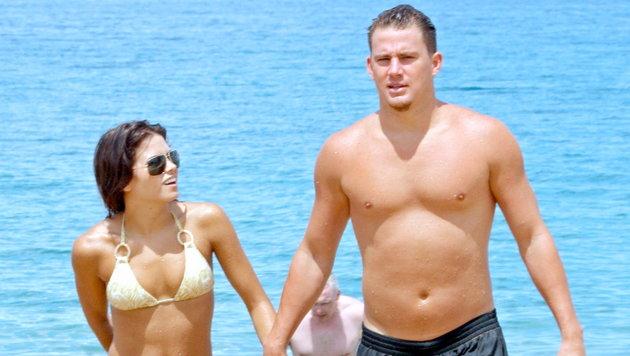 Channing Tatum und Jenna Dewan beim Beach-Urlaub (Bild: Viennareport)
