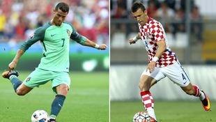 Kroatien - Portugal: Ein Duo wittert Finalchance (Bild: APA/AFP/FRANCISCO LEONG/-)