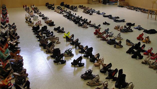 Schuhfetischist stahl 300 High Heels und Stiefel (Bild: LPD Steiermark)