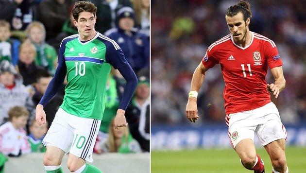 Nordirlands Lafferty und Wales-Superstar Bale (Bild: AFP)