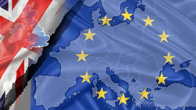 Brexit: London bremst bei Verhandlungen mit der EU (Bild: thinkstockphotos.de, krone.at-Grafik)