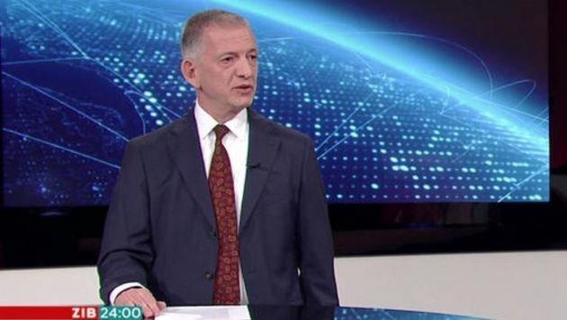 Im ZIB-Interview verteidigte Griller (links) den Beschluss (Bild: ORF)