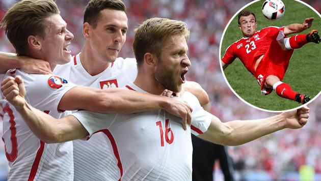 Polen nach Elfer-Drama erster EM-Viertelfinalist! (Bild: AP)