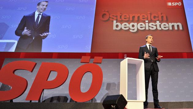 """""""Werden der FPÖ nicht unser Land überlassen!"""" (Bild: APA/HERBERT NEUBAUER)"""