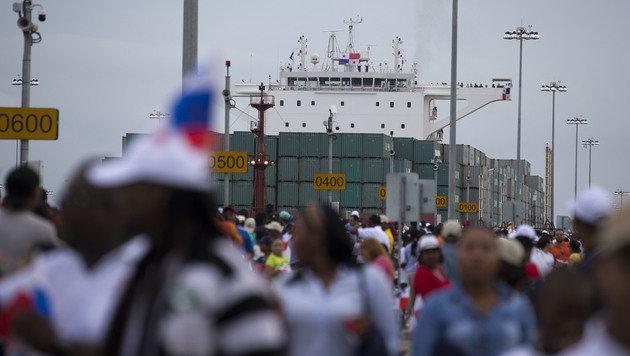 Erweiterter Panamakanal feierlich eröffnet (Bild: Associated Press)