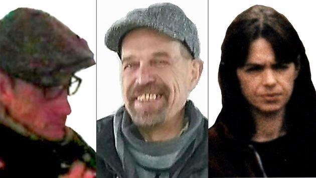 Dieses Fahndungsbild der drei Ex-RAF Terroristen wurde im Juni 2016 veröffentlicht. (Bild: APA/AFP/State Office of Criminal Investigation)