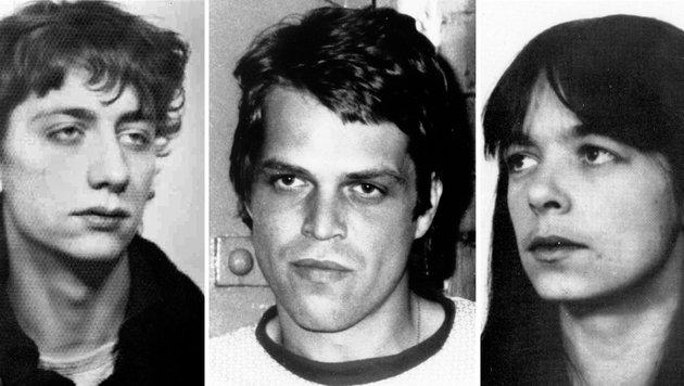 Burkhard Garweg, Ernst-Volker Wilhelm Staub und Daniela Klette auf Bildern aus den 80er-Jahren (Bild: APA/AFP/DPA/BKA)