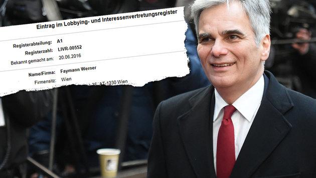 Ex-Kanzler Werner Faymann (56) ließ sich am 20. Juni ins Lobbyistenregister eintragen. (Bild: AP, Justizministerium)